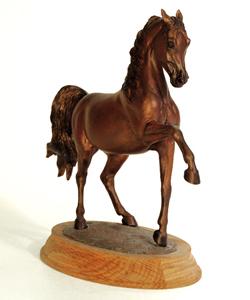 faux bronze arabian sculpture