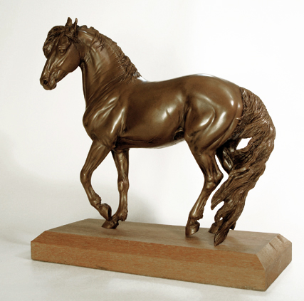 cold cast bronze mustang sculpture