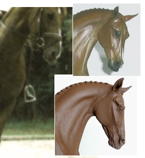 sculpture compared to real horse